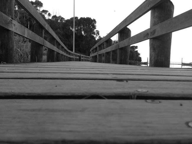 Under the boardwalk, down by the sea ..., at Lorne, Victoria, Australia