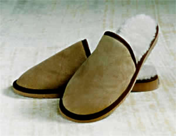Sheepskin Bound Scuffs, with closed in toe and no heel - Australian made Sheepskin slippers