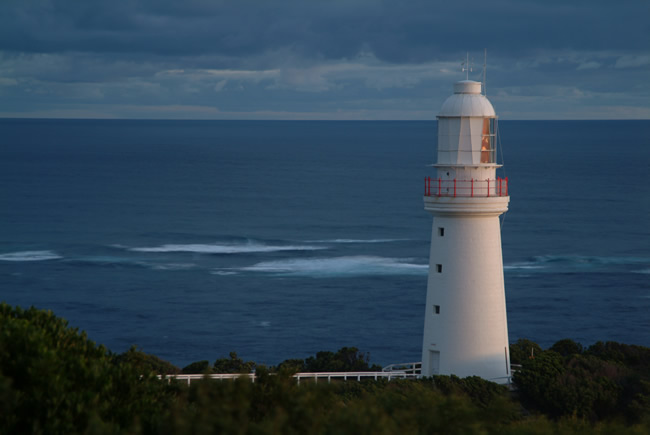 Dusk on the Bass Strait, Cape Otway Lighthouse, Great Ocean Road, Victoria, Australia