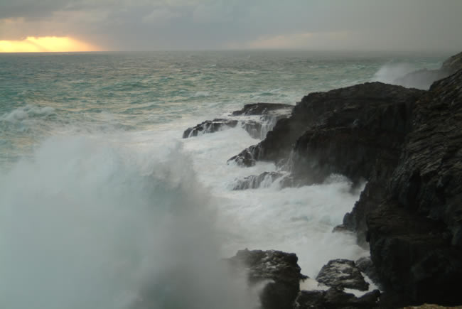 Blowholes at Cape Bridgewater near Portland, on Victoria's west coast, Australia
