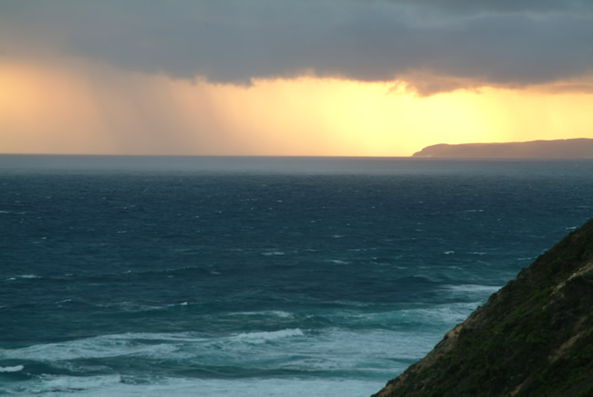 View from the tip of Cape Otway toward Moonlight Head, Great Ocean Road, Victoria, Australia