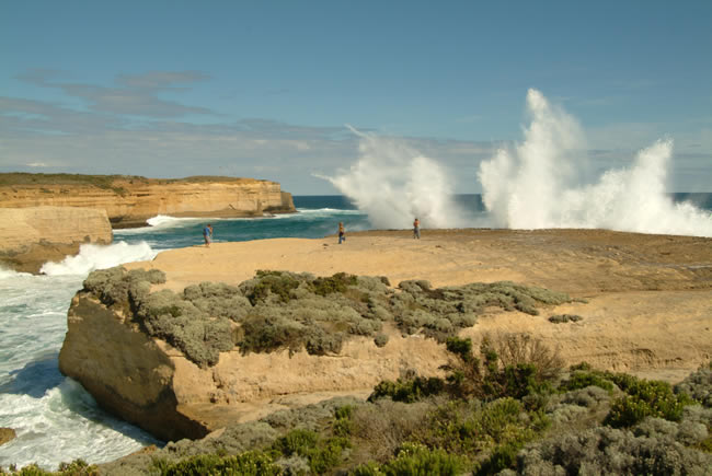 Spectacular waves at Sherbrooke Beach, near Port Campbell and the Twelve Apostles, Great Ocean Road, Victoria, Australia