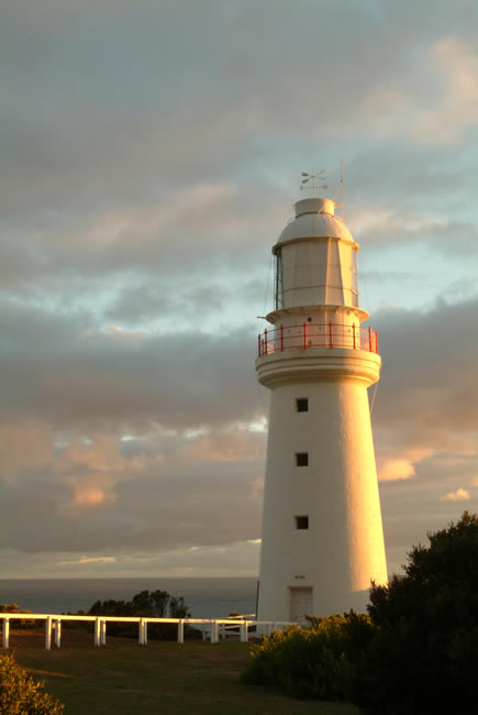 Warm sunset, Cape Otway Lighthouse, Great Ocean Road, Victoria, Australia