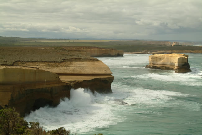 Tourist coast, Sherbrooke Beach, near Port Campbell and the Twelve Apostles, Great Ocean Road, Victoria, Australia