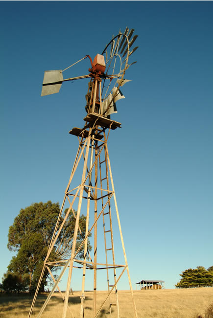 Windmill at Evansford, near Ballarat, Victoria, Australia