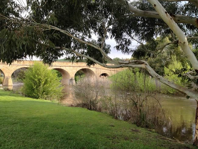 The Richmond Bridge, Australia's oldest operating bridge, at Richmond, near Hobart, Tasmania, Australia