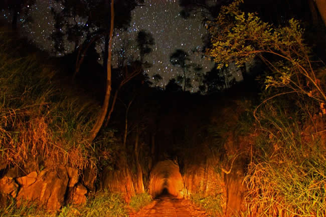 Beautiful night shot of the Boolboonda Tunnel, near Mt Perry, Queensland, Australia