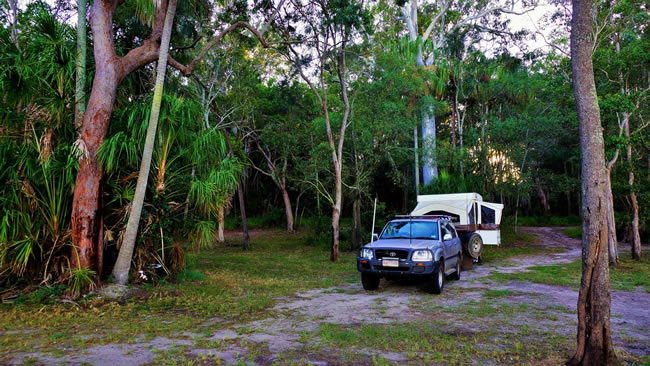 The Log Dump Camping area, near Tin Can Bay, Queensland, Australia.