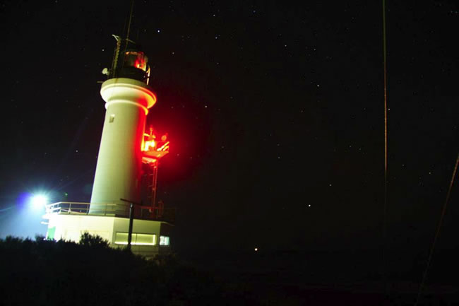 A night shot of the Point Lonsdale Lighthouse, Victoria, Australia