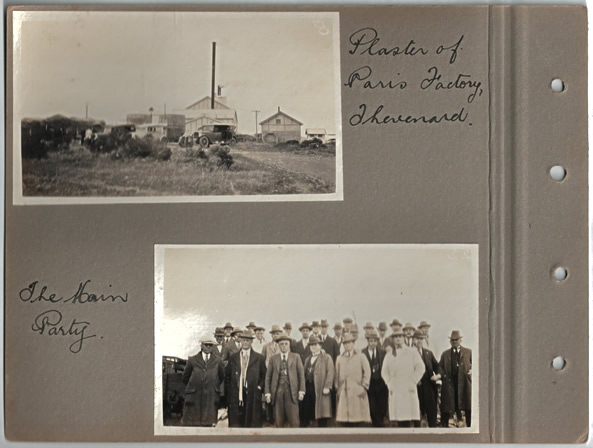 Plaster of Paris Factory, Thevenard.; The Main Party. Parliamentary tour of the Eyre Peninsula, October 9-18, 1926