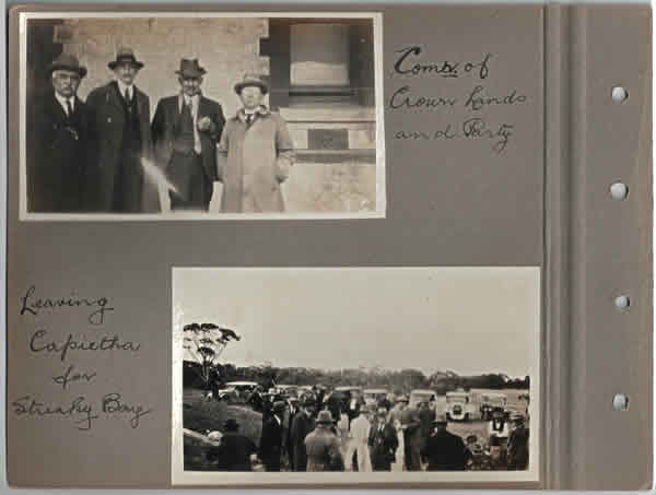 Comr. of Crown Lands and Party; Leaving Capietha for Streaky Bay. Parliamentary tour of the Eyre Peninsula, October 9-18, 1926