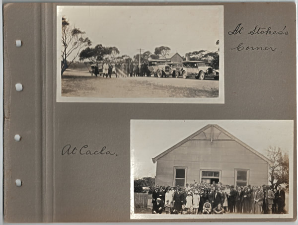 At Stokes's Corner; At Cacla. Parliamentary tour of the Eyre Peninsula, October 9-18, 1926