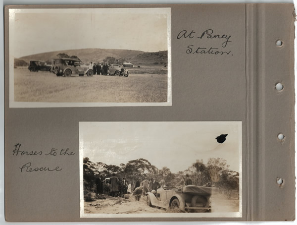 At Paney station.; Horses to the rescue. Parliamentary tour of the Eyre Peninsula, October 9-18, 1926