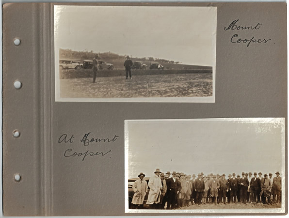 Mt Cooper; At Mount Cooper. Parliamentary tour of the Eyre Peninsula, October 9-18, 1926