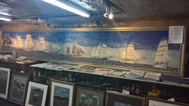 Mural of the re-enactment of the First Fleet, White's Mine, Broken Hill, New South Wales Australia