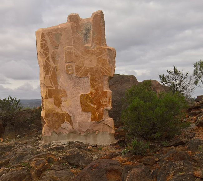 Tiwi Totem Sculpture, Broken Hill Sculptures, Living Desert, Broken Hill, New South Wales, Australia