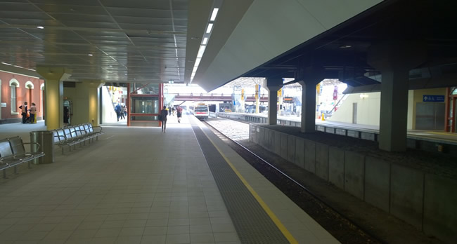 Wellington St Station, Perth, Western Australia, in April 2014