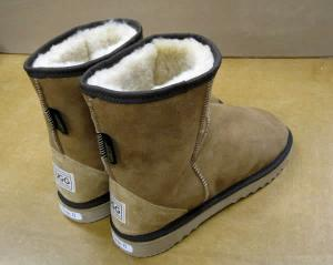 Short AussieSheepskin Classic Mini UGG Boot - back