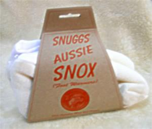 Aussie Snox wool pile slippers