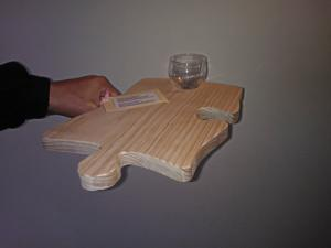 Cheese and wine tray. Cutting board, trivet, nibbles tray.
