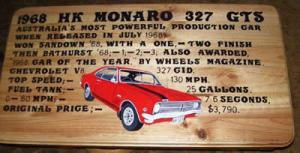 1768 HK Holden Monaro GTS Coffee Table