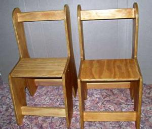 detail of the chairs in Little Tackers Table & Chair set